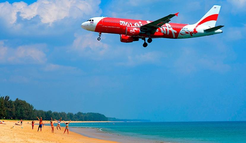 пляж в пхукете где садятся самолеты как часто ввезти